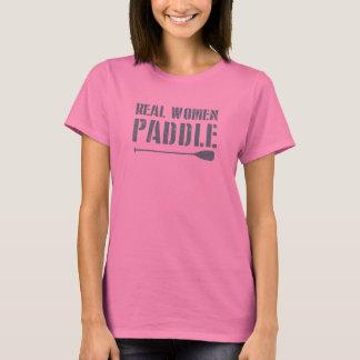De echte Vrouwen paddelen T Shirt