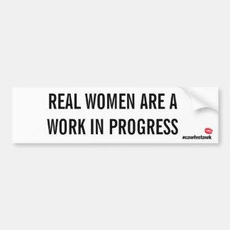 De echte Vrouwen zijn het Lopend Werk (de Sticker