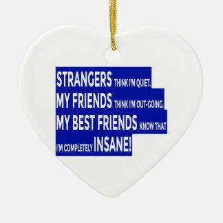 De echte Ware Vriendschap van Vrienden Keramisch Hart Ornament