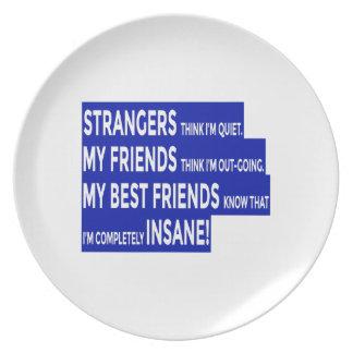 De echte Ware Vriendschap van Vrienden Melamine+bord