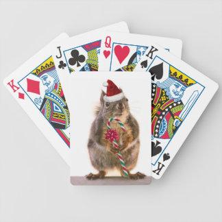 De Eekhoorn van Kerstmis met het Riet van het Snoe Bicycle Speelkaarten