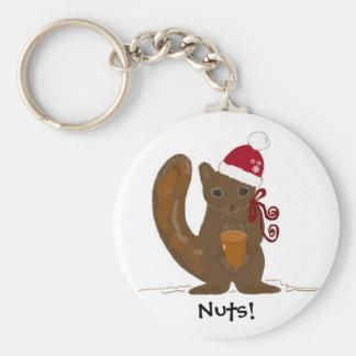 De Eekhoorn van Kerstmis met Spreuk Sleutelhangers