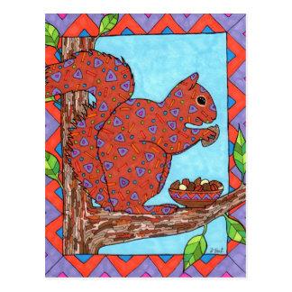 De Eekhoorn van Oaxacan met Gemengde Noten Briefkaart