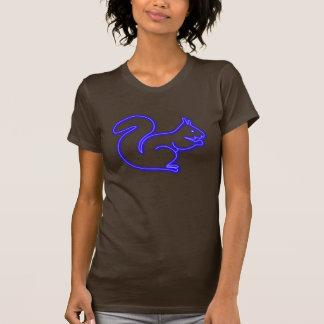 De eekhoornblauw van het neon t shirt