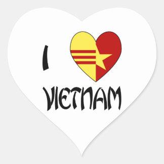De Eenheid van Vietnam van de liefde Hart Sticker