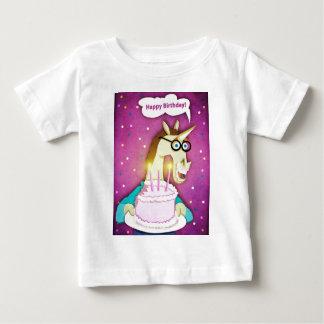 De Eenhoorn van de Cake van de verjaardag Baby T Shirts