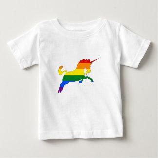 De Eenhoorn van de regenboog Baby T Shirts