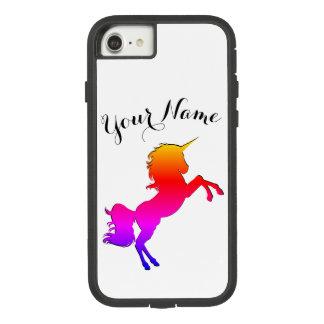 De Eenhoorn van de regenboog met Gepersonaliseerde Case-Mate Tough Extreme iPhone 8/7 Hoesje