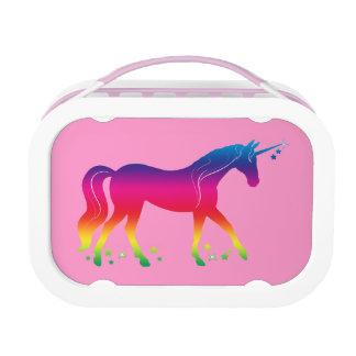 De Eenhoorn van de regenboog met Sterren in Lunchbox