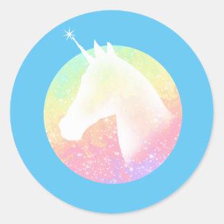 De Eenhoorn van de regenboog Ronde Sticker