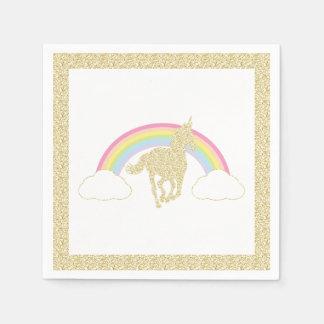 De Eenhoorn van de regenboog schittert de Papieren Servetten