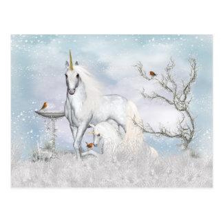 De Eenhoorn van de Winter van de fantasie en het Briefkaart