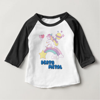 De eenhoorn van het Metaal van de dood Baby T Shirts