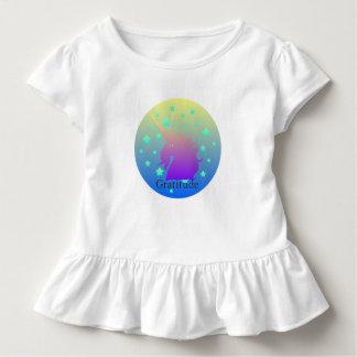 De eenhoorn van Ombre met woorddankbaarheid Kinder Shirts