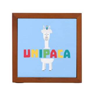 De Eenhoorn Z0ghq van de Regenboog van de alpaca Pennenhouder