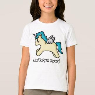 De eenhoorns schommelen Blauwe T-shirt