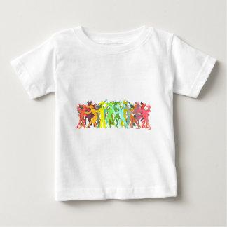 De Eenhoorns van de Lijn van Conga Baby T Shirts