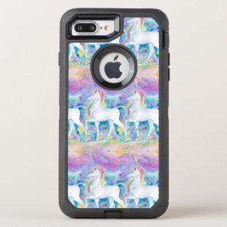 De Eenhoorns van de waterverf OtterBox Defender iPhone 8 Plus / 7 Plus Hoesje