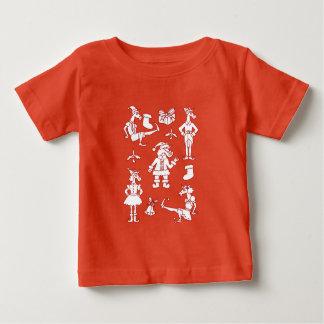 De Eenhoorns van Kerstmis Baby T Shirts