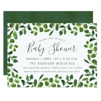 De eenvoudig Elegante Uitnodigingen van het Baby