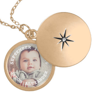 De eenvoudig Zoete Foto van het Baby Locket Ketting