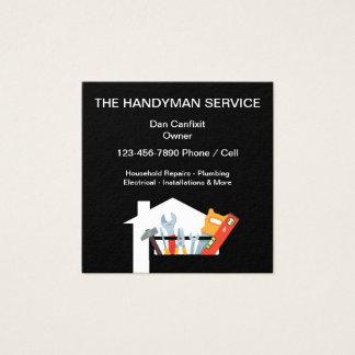 De eenvoudige Dienst van het Manusje van alles Vierkante Visitekaartjes