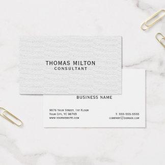 De eenvoudige Elegante Adviseur van de Textuur Visitekaartjes