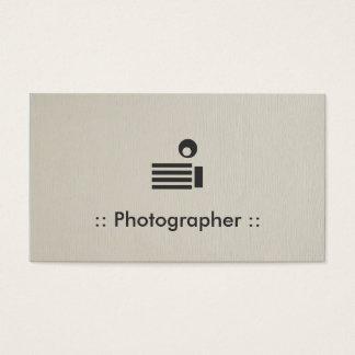 De Eenvoudige Elegante Beroeps van de fotograaf Visitekaartjes