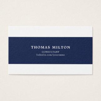 De eenvoudige Elegante Blauwe Witte Adviseur van Visitekaartjes