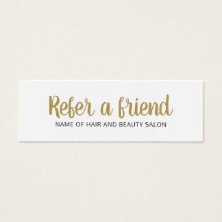 De eenvoudige Elegante Schone Gouden Witte Kaart Mini Visitekaartjes