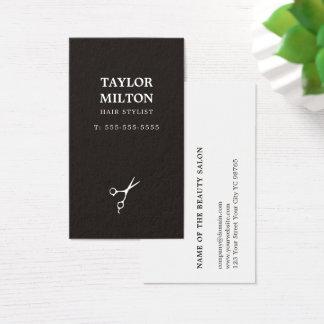 De eenvoudige Elegante Zwart-witte Kapper van de Visitekaartjes