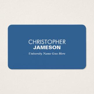De eenvoudige en Moderne Blauwe Gediplomeerde Visitekaartjes