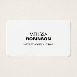 De eenvoudige en Moderne Gediplomeerde Visitekaartjes