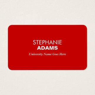 De eenvoudige en Moderne Rode Gediplomeerde Visitekaartjes