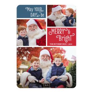De eenvoudige Kaart van de Foto van Kerstmis van