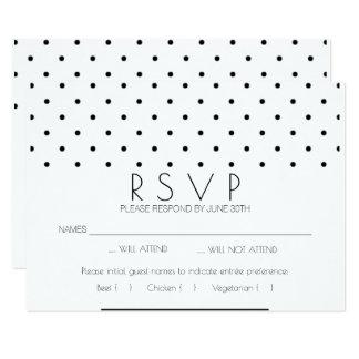 De eenvoudige Kaart van het Huwelijk RSVP van de 8,9x12,7 Uitnodiging Kaart