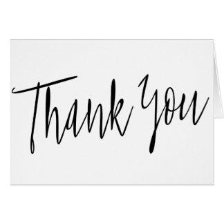 """De eenvoudige Kalligrafie """"dankt u """" Kaart"""