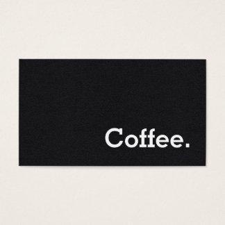 De eenvoudige Ponskaart van de Koffie van de Visitekaartjes