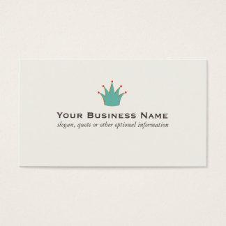 De eenvoudige Retro Visitekaartjes van de Kroon