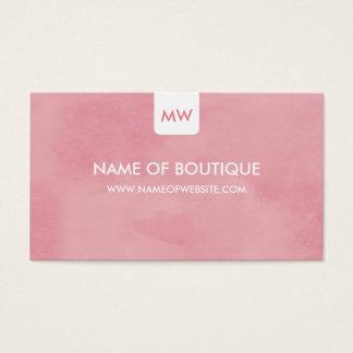 De eenvoudige Roze Elegante Sociale Media van het Visitekaartjes