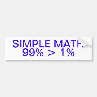 De eenvoudige Sticker van de Bumper van de Wiskund