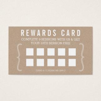 De eenvoudige tekst minimaal trendy kraftpapier visitekaartjes