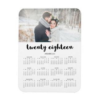 De eenvoudige Trendy Kalender van de Foto van de Magneet