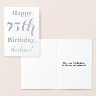 De eenvoudige Zilveren Verjaardag van de Folie Folie Kaarten
