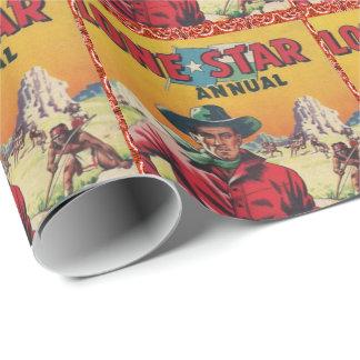 De Eenzame Ster van de vintage Westerne van de Cadeaupapier