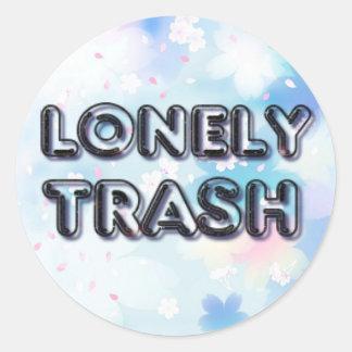 De eenzame Sticker van het Afval