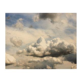 De Eerlijke Wolken van de provincie Hout Afdruk