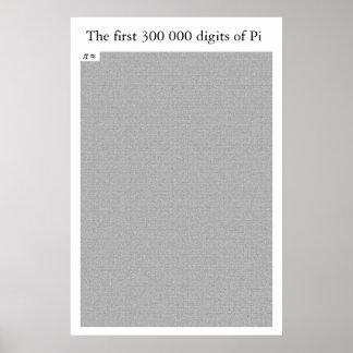 De eerste 300 000 cijfers van Pi Poster