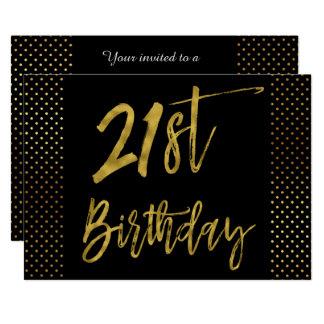 De Eerste Gouden Uitnodiging van de Verjaardag van