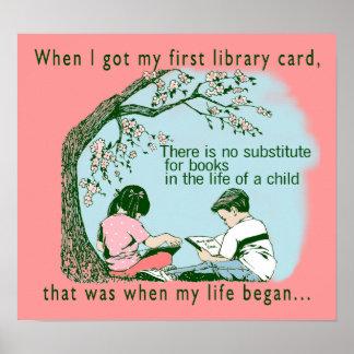 De eerste Kaart van de Bibliotheek Poster